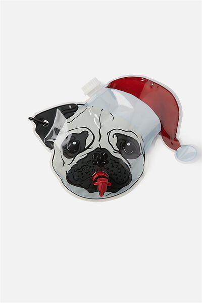 Hanging Flask, CHRISTMAS PUG