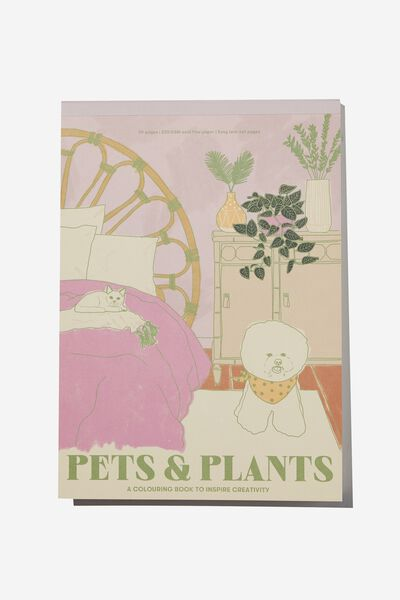 Artists Assistant Colouring In Book, PETS AND PLANTS VOL.3