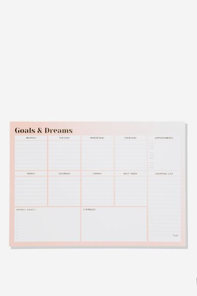 A3 Plan Ahead Planner, GOALS AND DREAMS PURPLE OMBRE