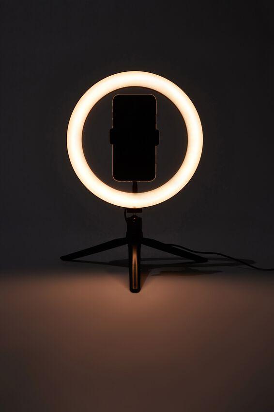 Glow Up 26cm Ring Light, BLACK