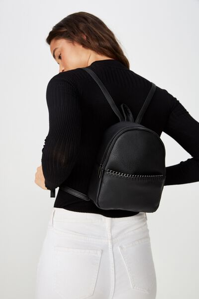 Mini Cairo Backpack, BLACK TOP CHAIN