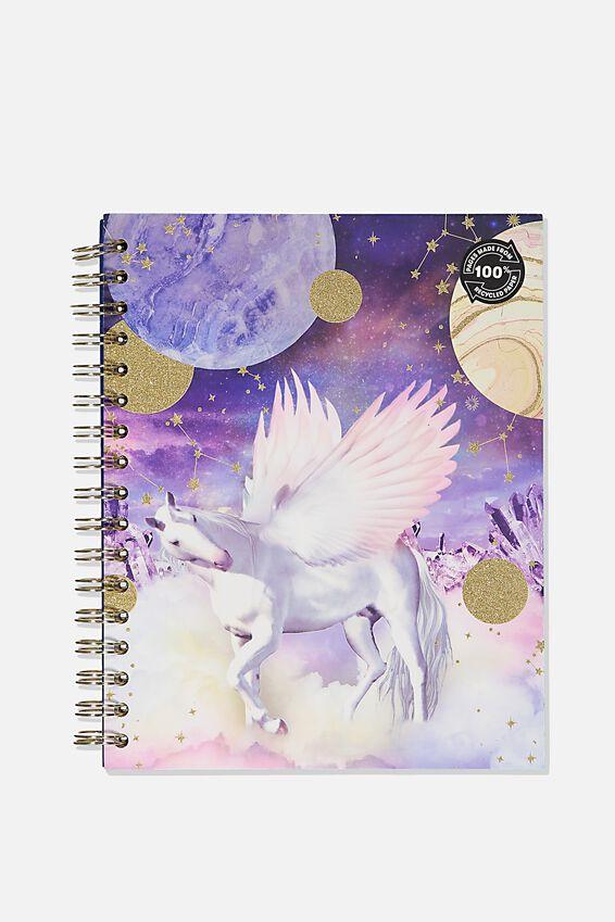 Ultimate Spiral Notebook, BOHO UNICORN