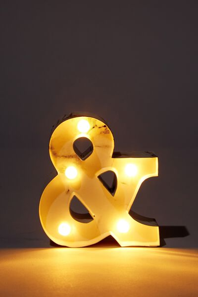 Mini Marquee Letter Lights 3.9inch, MARBLE AND SYMBOL