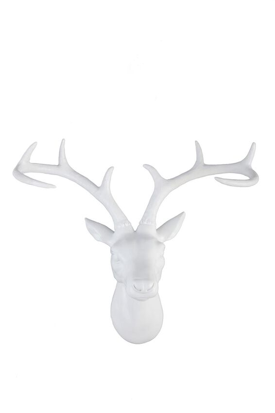 Stag Head Large, WHITE