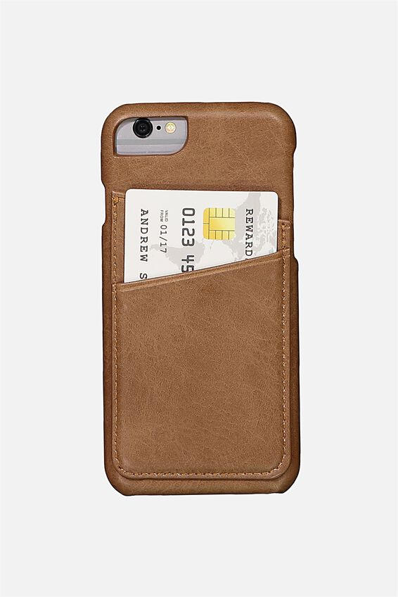 Textured Universal Phone Cover 6, 7, 8, TAN PU
