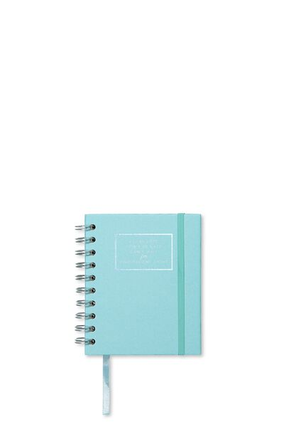 2018 A6 Spiral Diary, BLUE SMASHING
