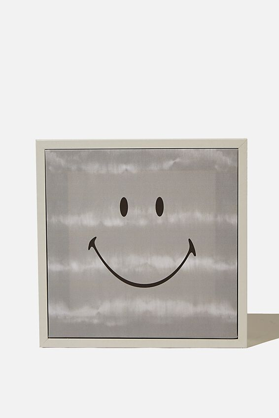 24 X 24 Mini Canvas Art, LCN SMI SMILEY GREY TIE DYE