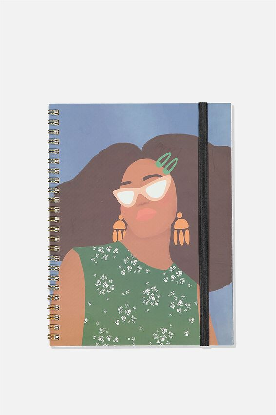 A5 Spinout Notebook Recycled, GIRL