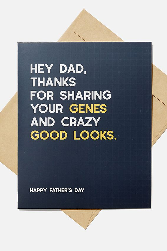 Fathers Day Card 2020, GENES AND CRAZY GOOD LOOKS