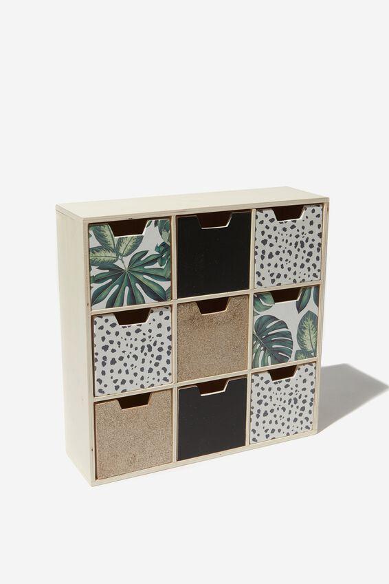 Square Quick Drawer Storage, PLANT MULTI
