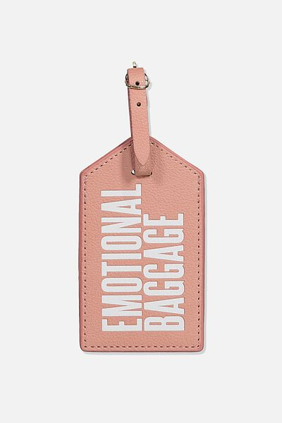 Luggage Tag, EMOTIONAL BAGGAGE PINK