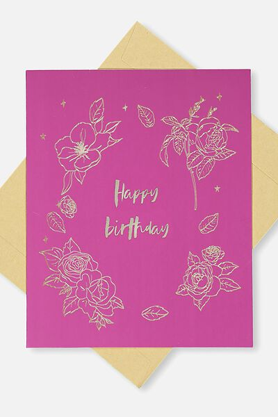 Birthday cards happy birthday cards cotton on nice birthday card happy birthday floral bookmarktalkfo Image collections