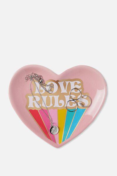 Novelty Trinket Tray, LOVE RULES