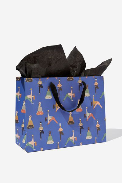 Medium Gift Bag with Tissue Paper, YOGA PRINT