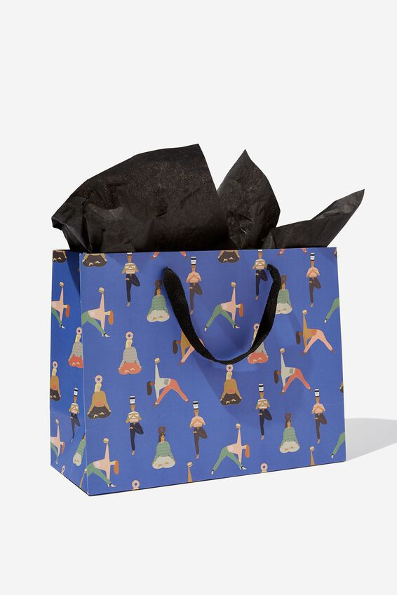 Medium Gift Bag with Tissue Paper, YOGA PRINT