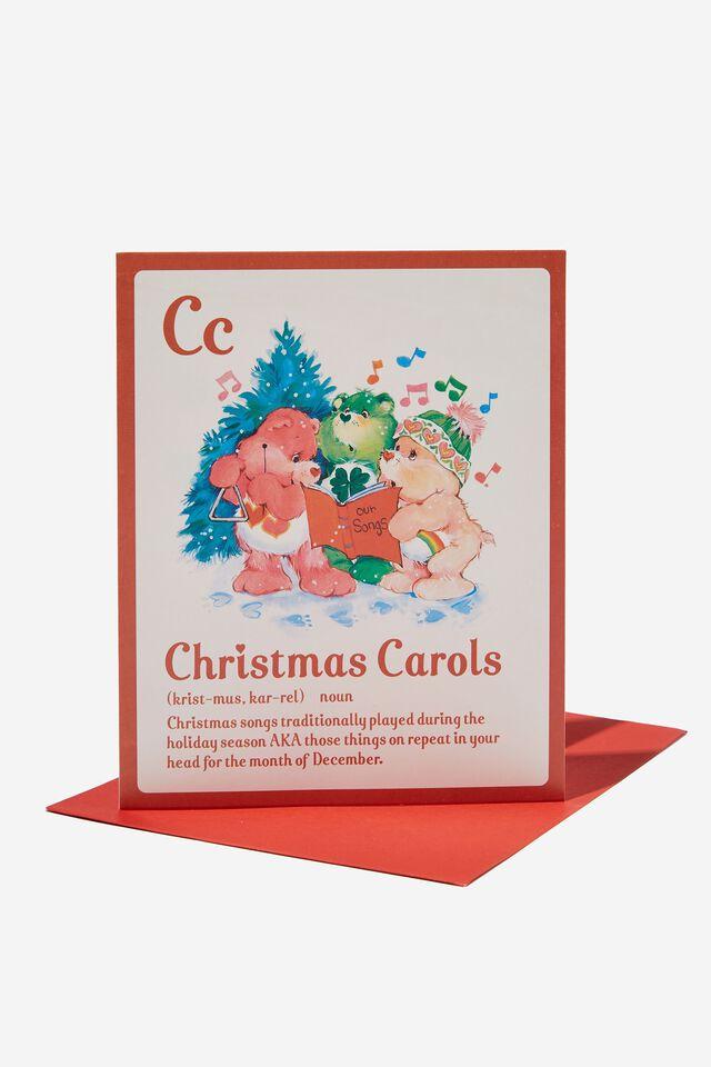 Care Bears Christmas Card 2021, LCN CLC CARE BEARS CAROLS NOUN