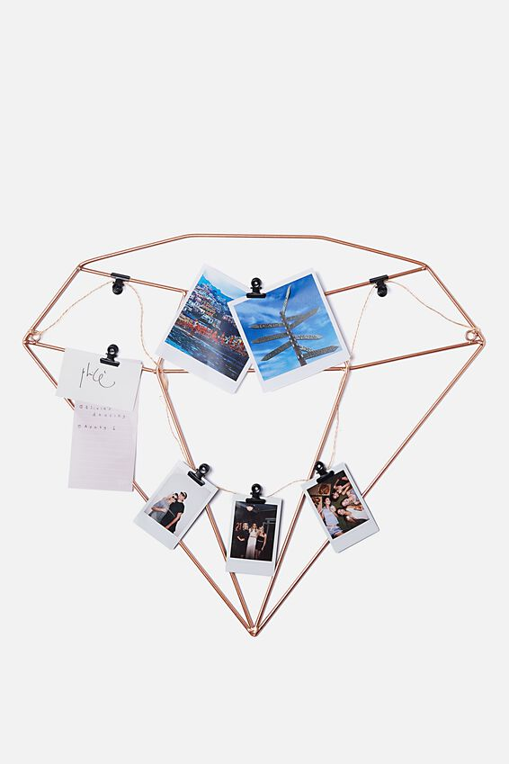 Shaped Wire Organiser, ROSE GOLD GEM