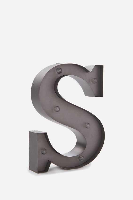 Midi Marquee Letter Lights 6.3inch, SILVER S