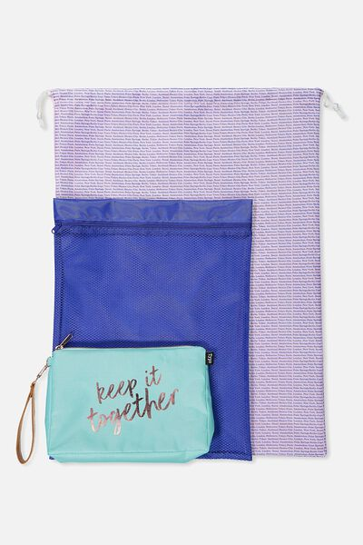 3 Pc Travel Organiser Bags, KEEP IT TOGETHER
