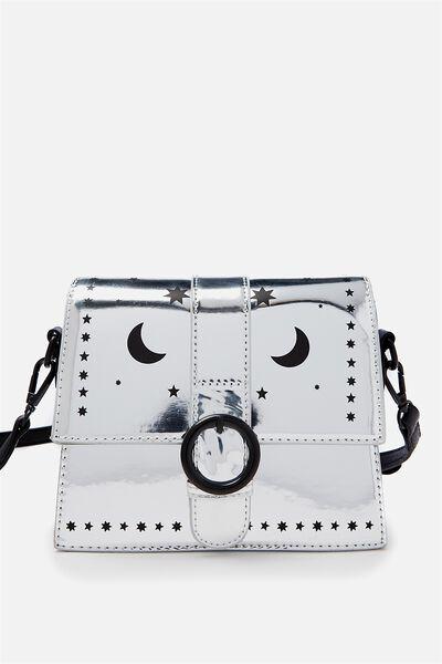 Micro Cross Body Bag, SILVER STARS