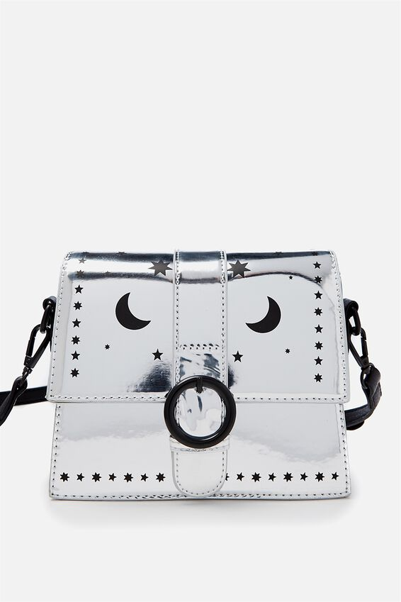 Micro Cross Body Bag, SILVER STARS