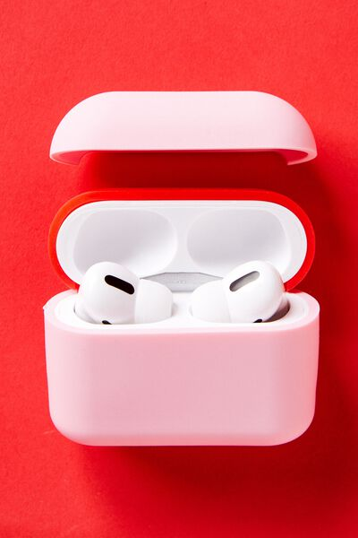 Ear Bud Sleeve Pro, PLASTIC PINK & TRUE RED