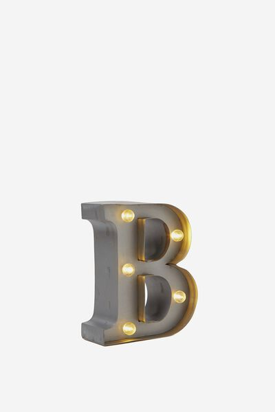"Mini Marquee Letter Lights 3.9"", SILVER B"