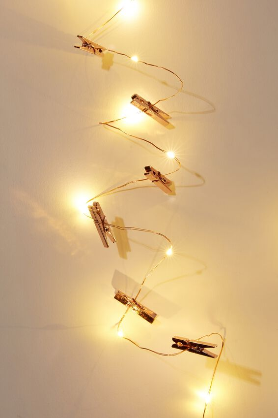 3M Novelty Twinkle Lights, ROSE GOLD PEGS