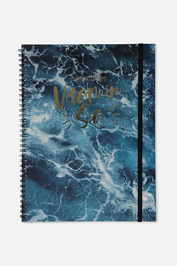 A4 Spinout Notebook - 120 Pages, WATER VITAMIN SEA