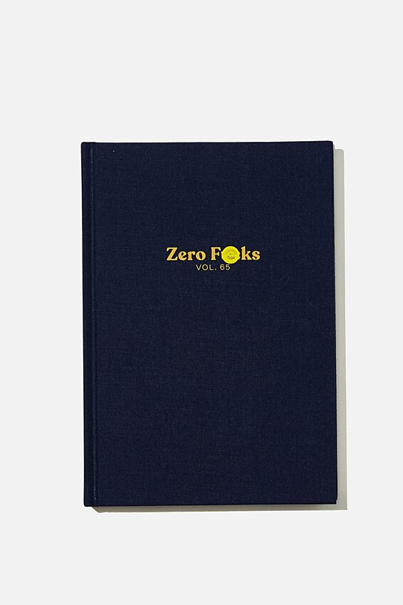 A5 Oxford Notebook, ZERO FU CKS