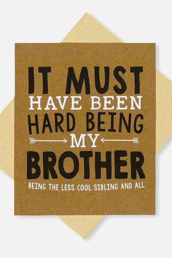 Family Birthday Card, BROTHER