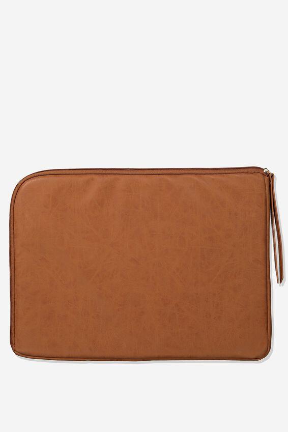 Premium Laptop Case 15 Inch, MID TAN TOOLED