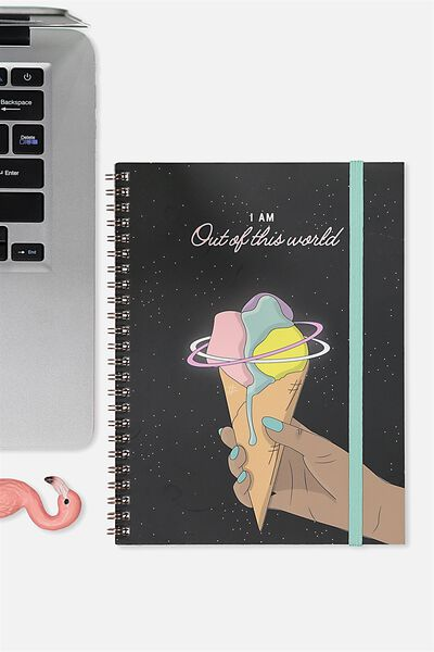 A5 Spinout Notebook - 120 Pages, OUT OF THIS WORLD ICE CREAM