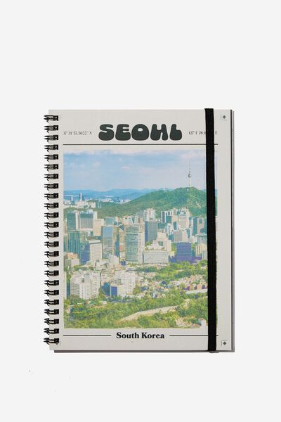 A5 Spinout Notebook Recycled, RG ASIA SEOUL CITY POSTER
