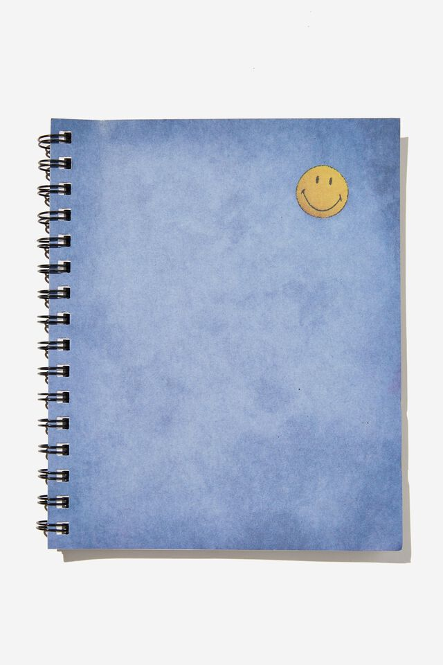 A5 Smiley Campus Notebook Recycled, LCN SMI SMILEY PATCH