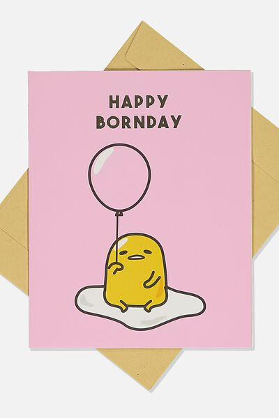 Funny Birthday Card, LCN SAN GUD HAPPY BORNDAY