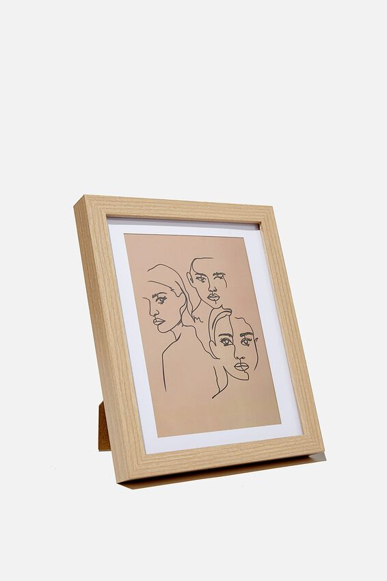 A5 Framed Print, MENAGE A TROIS