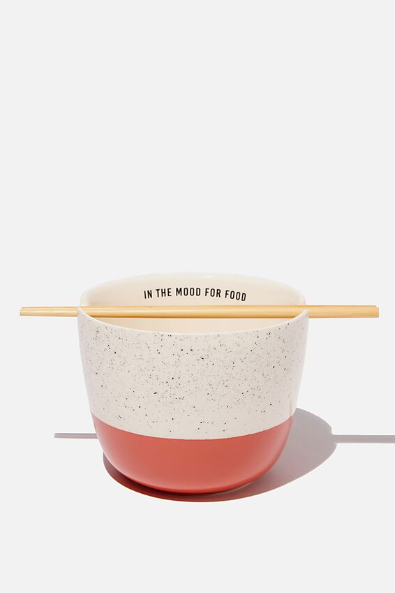 Novelty Noodle Bowl, IN THE MOOD FOR FOOD