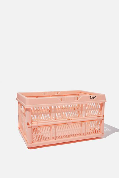 Large Foldable Storage Crate, PEACH CANDY