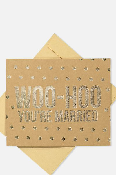 Wedding Card, WHOOHOO YOURE MARRIED