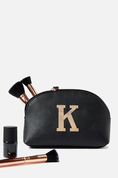 Alphabet Cosmetic Bag, K