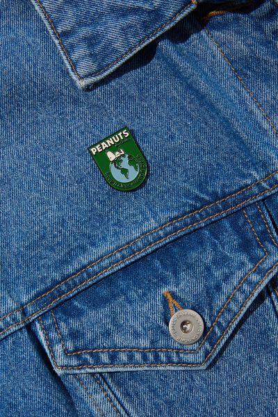 Enamel Badges, LCN PEA SNOOPY CLEAN AND GREEN