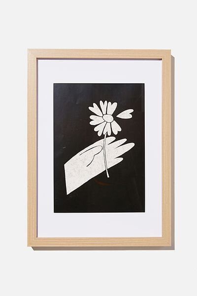 A4 Framed Print, GIVE FLOWERS