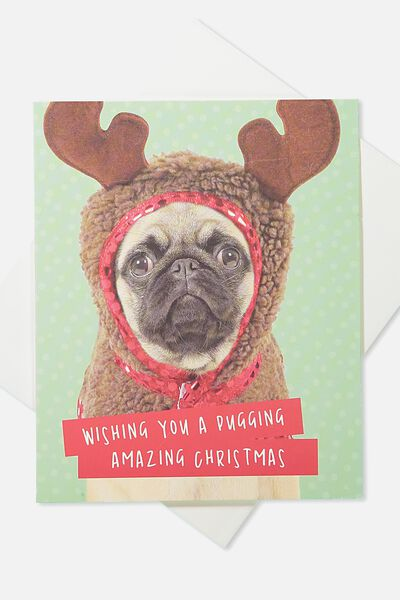 2018 Christmas Card, MERRY PUGGING CHRISTMAS