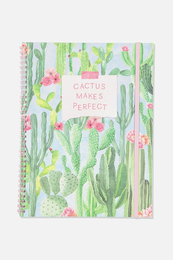 A4 Spinout Notebook - 120 Pages, CACTUS MAKES PERFECT
