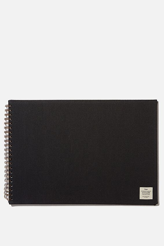 A3 Spiral Sketch Book, BLACK