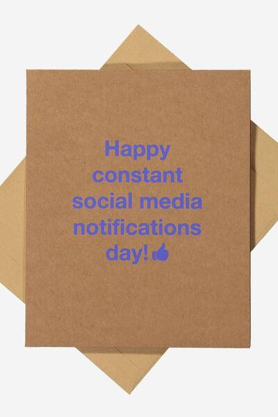 Funny Birthday Card, SOCIAL MEDIA