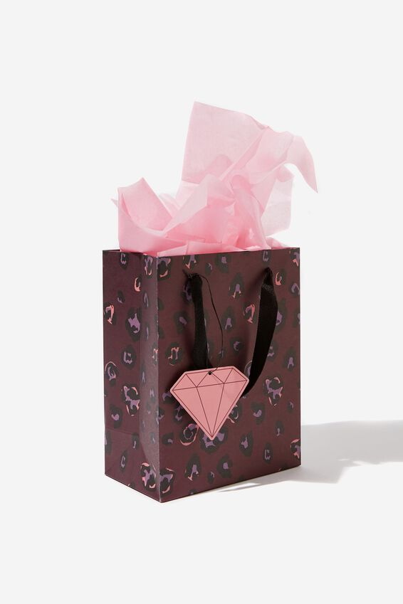 Small Gift Bag with Tissue Paper, LEOPARD