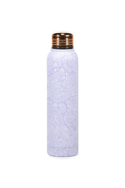 Small Metal Drink Bottle, LILAC LACE