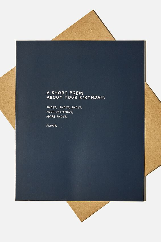 Funny Birthday Card, BIRTHDAY POEM SHOTS!